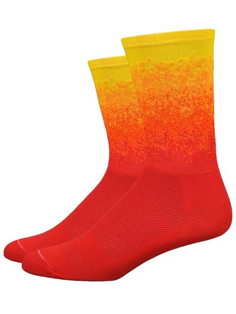 "DeFeet Aireator 6"" Socks Ombre Sunrise (Scarlet/Orange/Pumpkin/Bright Gold)"